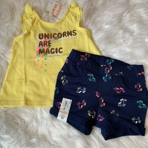 Jumping Beans Tank & Shorts Size 12 Months NWT